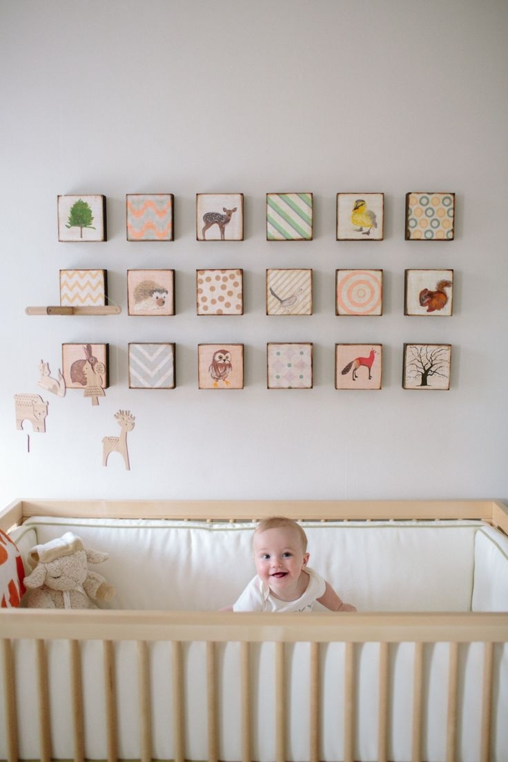 Wall Decorations Ideas For Baby Room • Walls Ideas Throughout Most Recent Nursery Wall Accents (View 9 of 15)