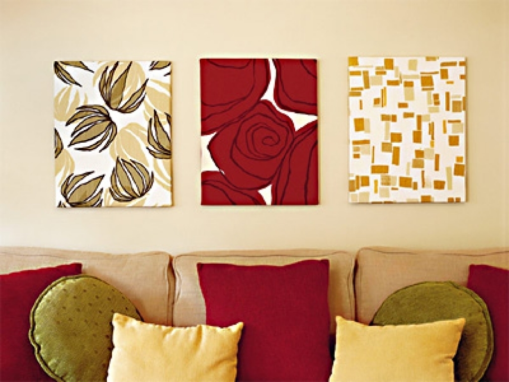 Wall Fabric Decor Awesome Padded Wall Panel Design As A Wall Decor With Latest Padded Fabric Wall Art (View 4 of 15)