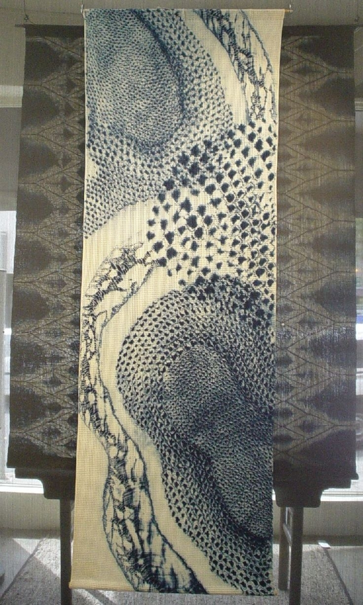 Wall Hanging | Textile | Pinterest | Walls, Shibori And Embroidery With Regard To Newest Japanese Fabric Wall Art (View 15 of 15)