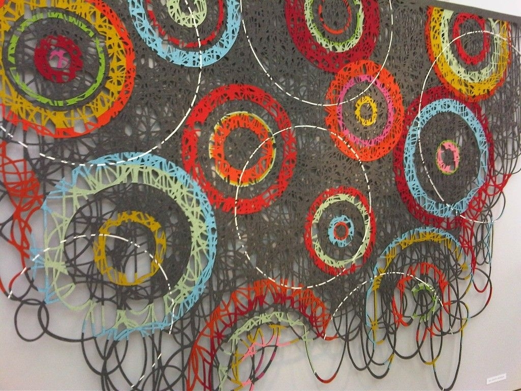 Wall Hangingmay Bente Aronsen Abstract Contemporary Modern With Regard To Most Popular Fabric Art Wall Hangings (View 12 of 15)