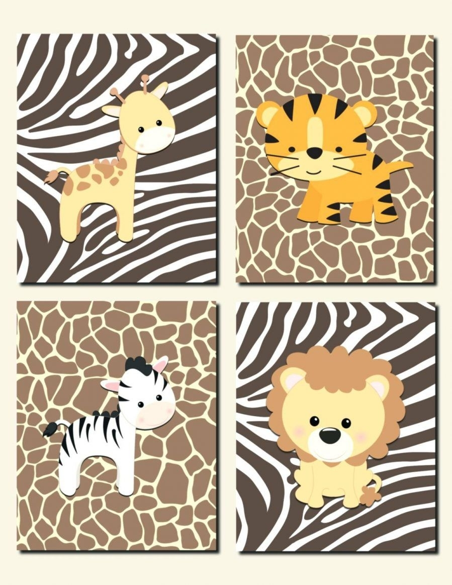 Wall Ideas: Safari Wall Art Stickers African Safari Canvas Wall Intended For Best And Newest Safari Canvas Wall Art (View 12 of 15)