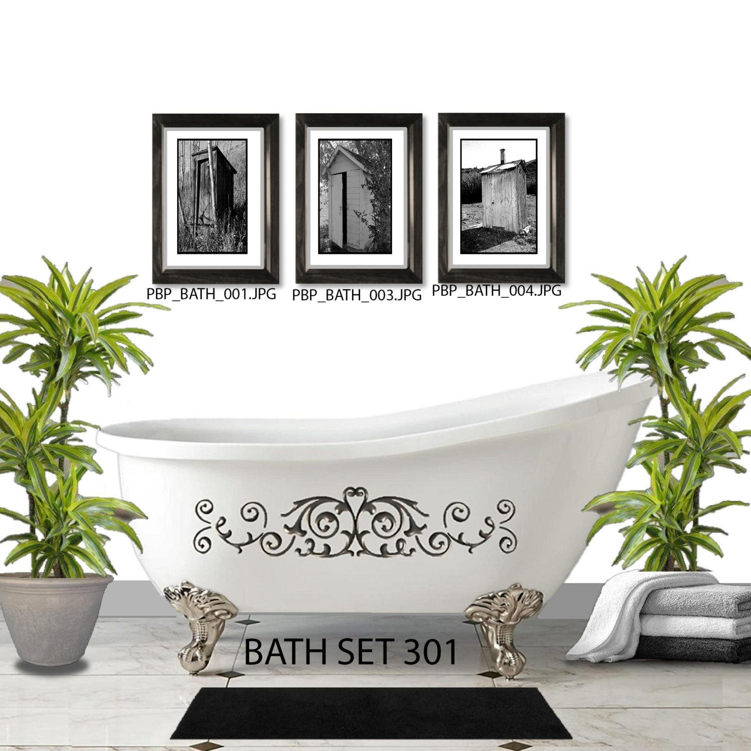Wall Sets – Picturebypicturedesigns Inside Recent Vintage Bath Framed Art Prints Set Of (View 6 of 15)