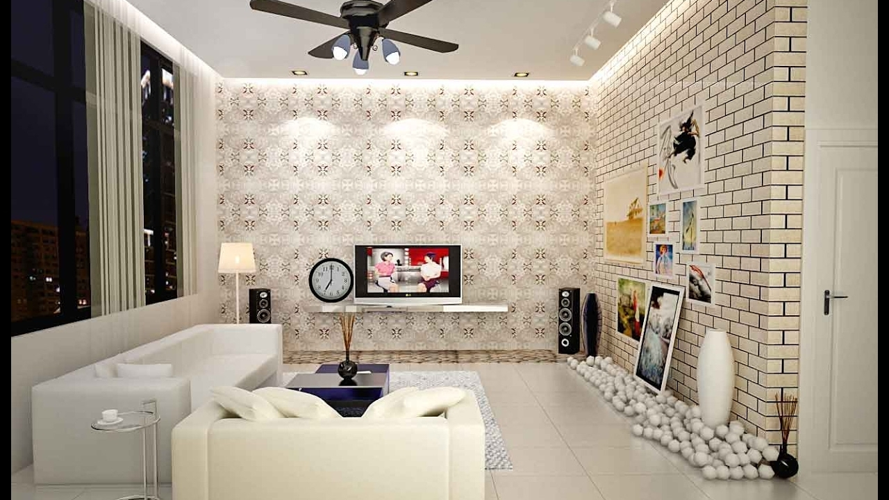 Wallpaper For Small Living Room, Bedroom, Dining Room Ideas – Youtube With Best And Newest Wall Accents For Narrow Room (View 13 of 15)