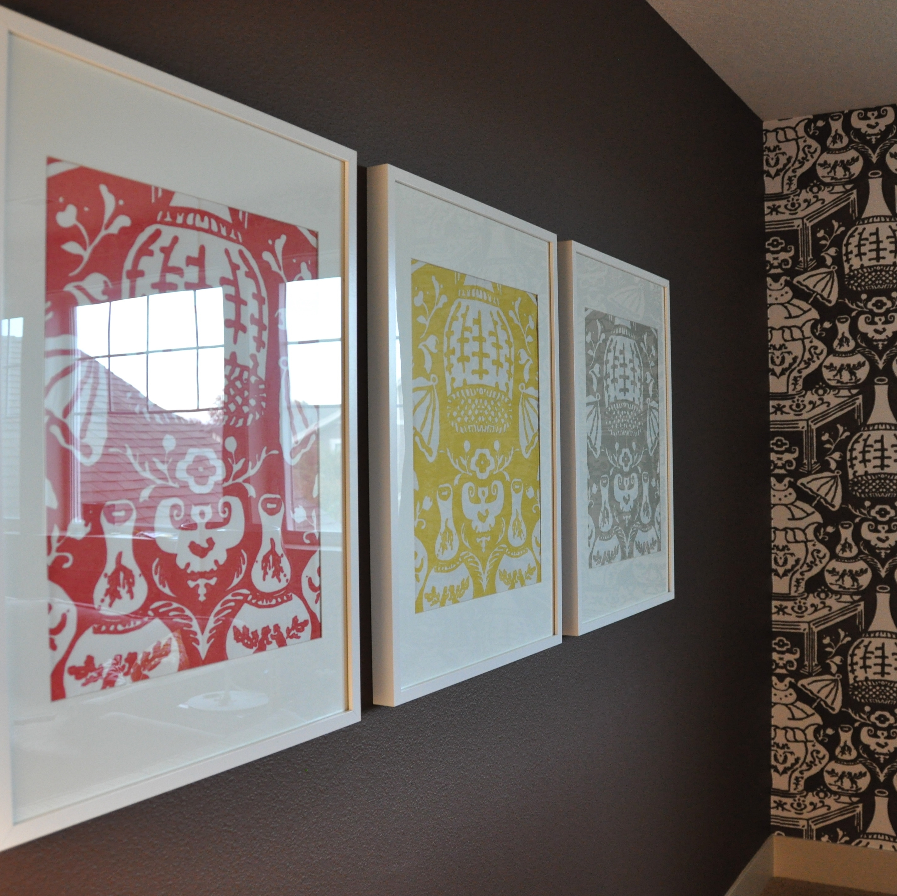 Wallpaper Samples In Ikea Ribba Frames = Simple & Fun Art! | Great Within Most Up To Date Fabric Decoupage Wall Art (Gallery 11 of 15)
