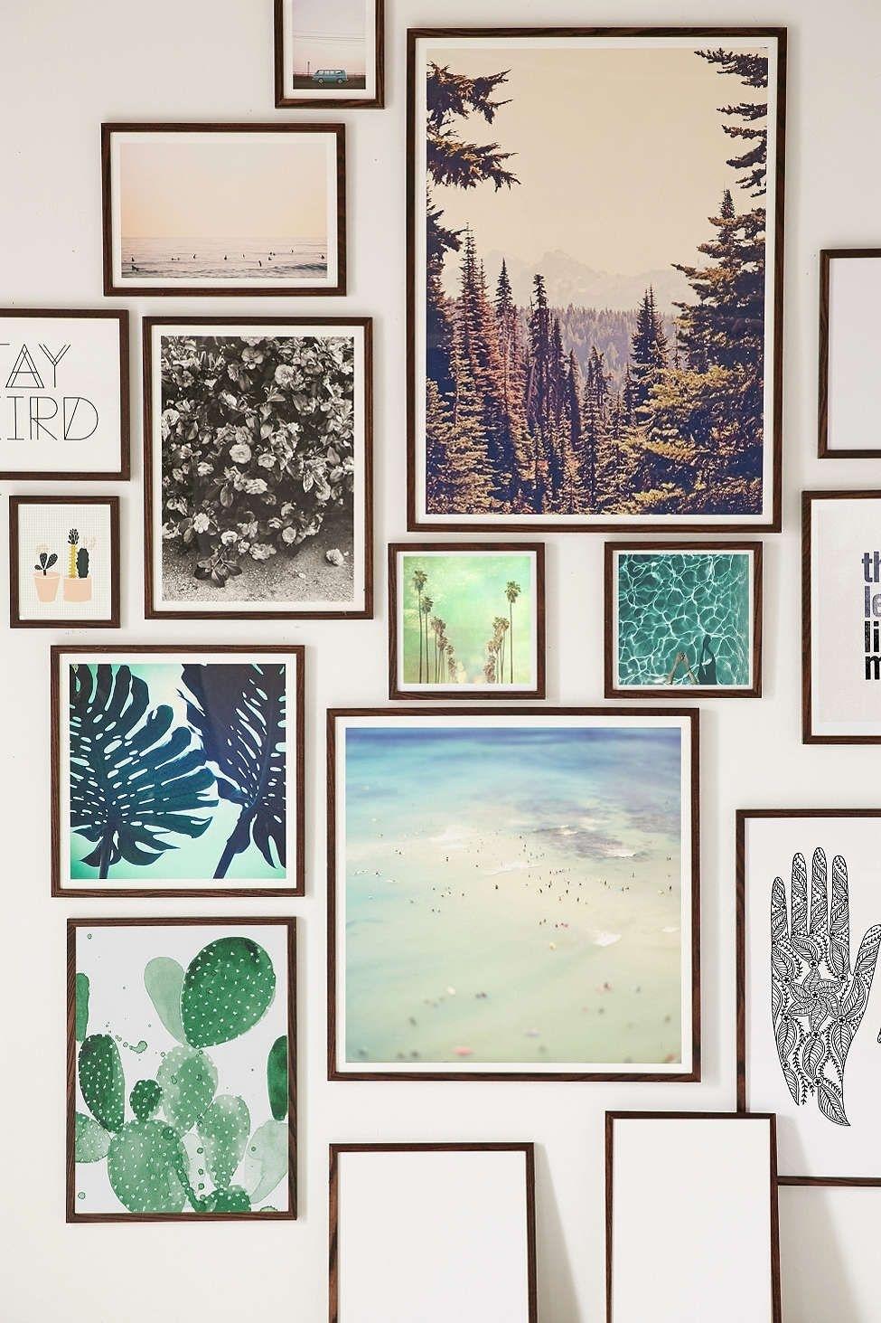 Walnut Wood Art Print Frame | Walnut Wood, Wood Art And Urban For Most Popular Framed Art Prints For Bedroom (View 2 of 15)