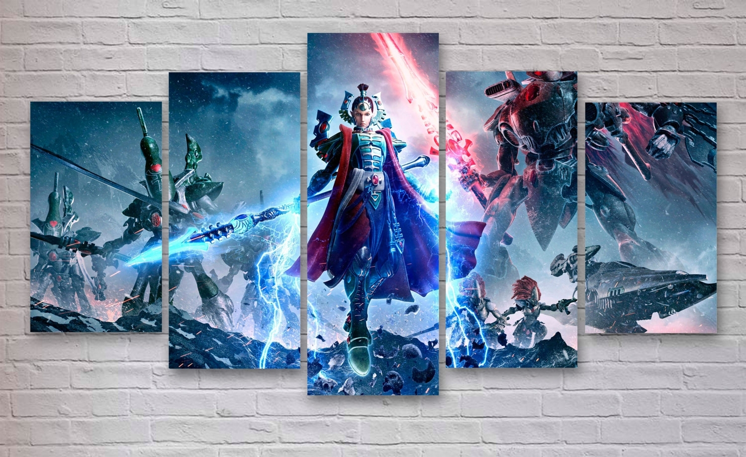 Warhammer – Dawn Of War Gaming 5 Panel / Piece Canvas – Wall Art Pertaining To Most Popular Gaming Canvas Wall Art (View 10 of 15)