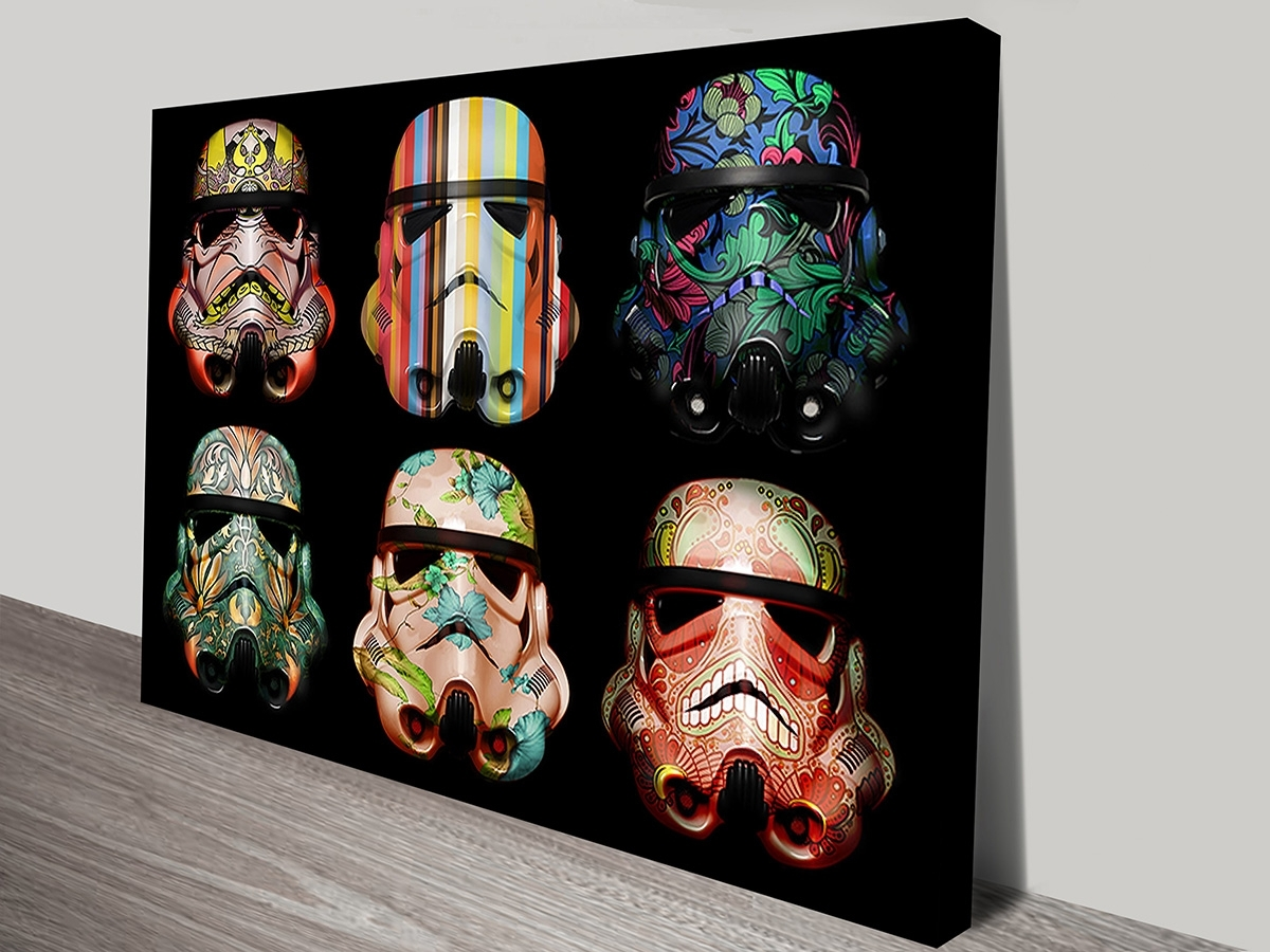Warhol Style Star Wars Stormtrooper Pop Art Prints On Canvas With Regard To Most Up To Date Canvas Wall Art Of Perth (View 14 of 15)