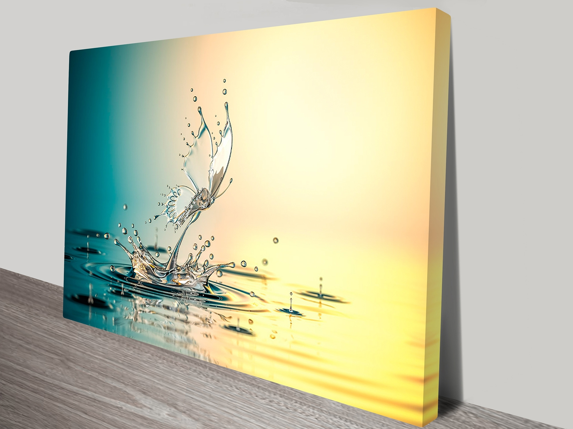 Water Butterfly Abstract Canvas Wall Art Geelong For Current Geelong Canvas Wall Art (View 1 of 15)