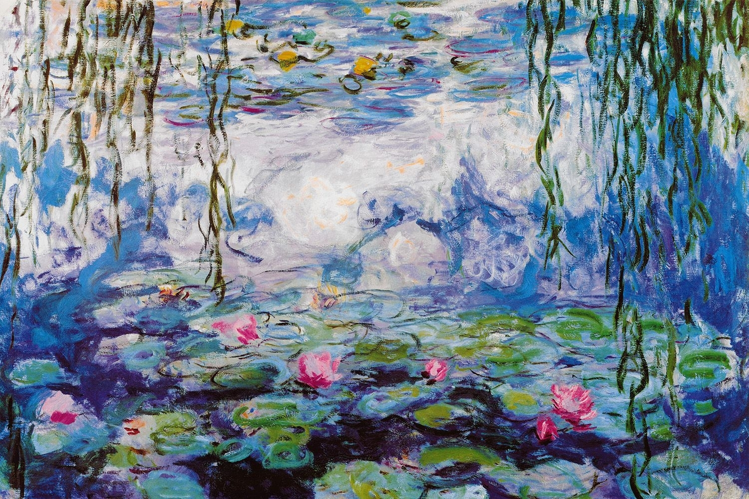 Waterlilies, 1916 19 Art Printclaude Monet | Claude Monet For Most Popular Monet Canvas Wall Art (View 15 of 15)