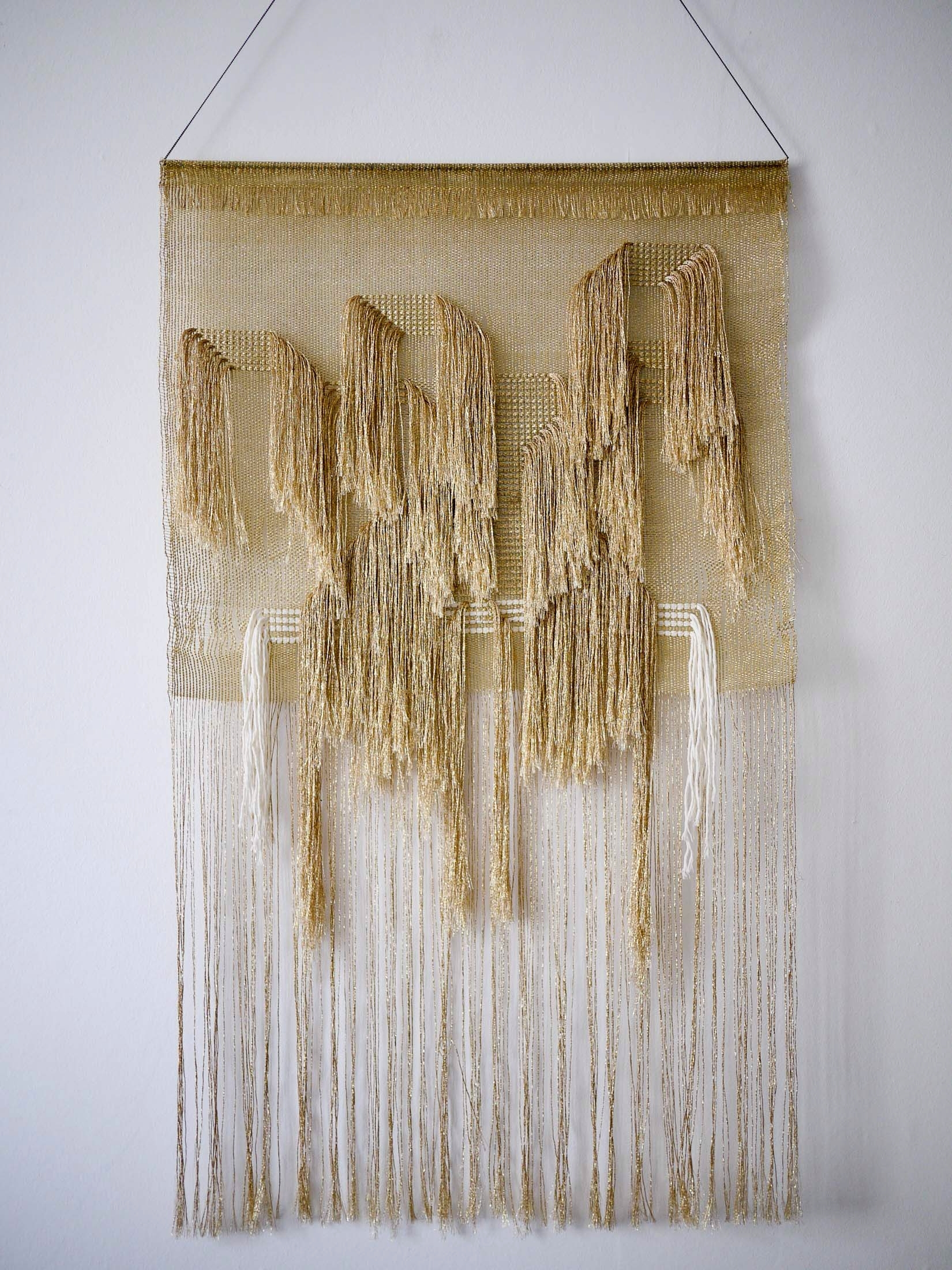 Weaving Justine Ashbee For Native Line. Woven Gold Wall Hanging Regarding Latest Woven Textile Wall Art (Gallery 2 of 15)