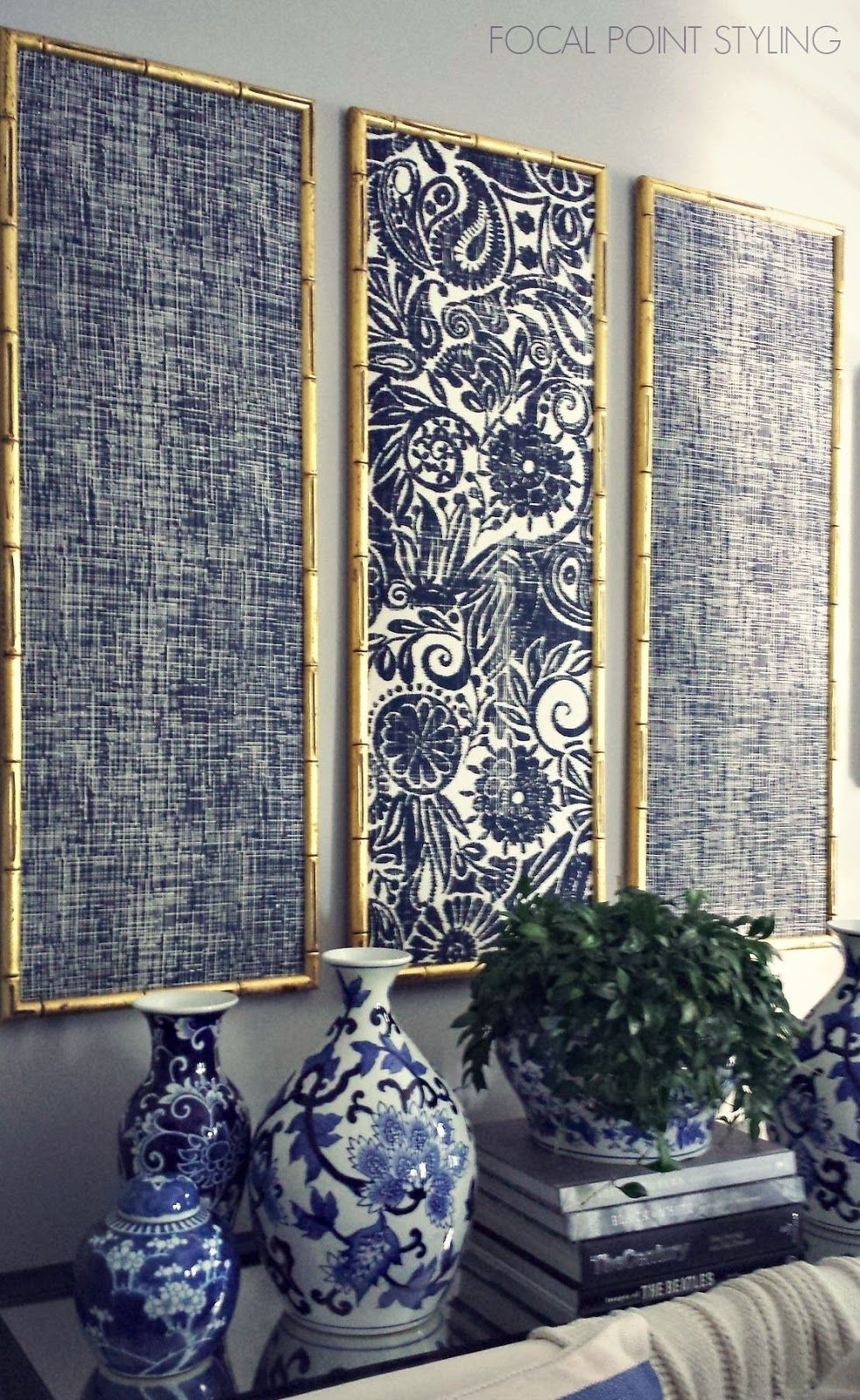 What A Great Way To Display Your Favorite Fabrics And Use For 2018 Fabric Panel Wall Art With Embellishments (Gallery 14 of 15)