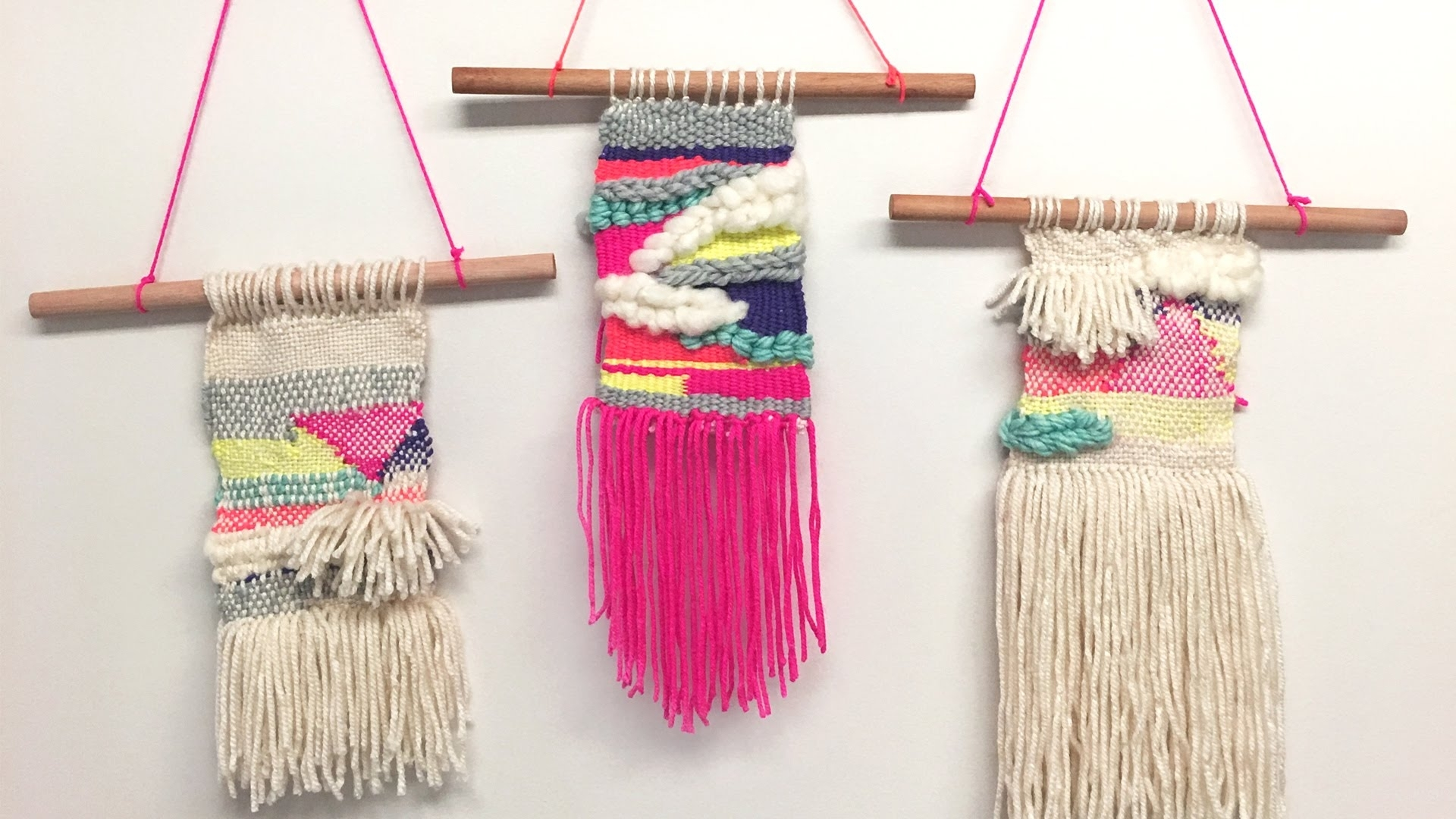 Whatdaymade Diy: Tissage Woven Wall Hagging – Youtube For Newest Diy Textile Wall Art (Gallery 12 of 15)