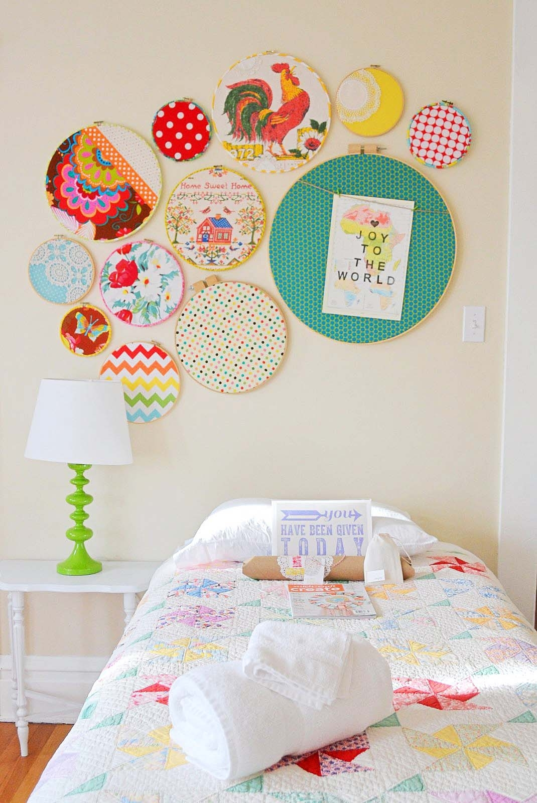Featured Photo of Fabric Hoop Wall Art