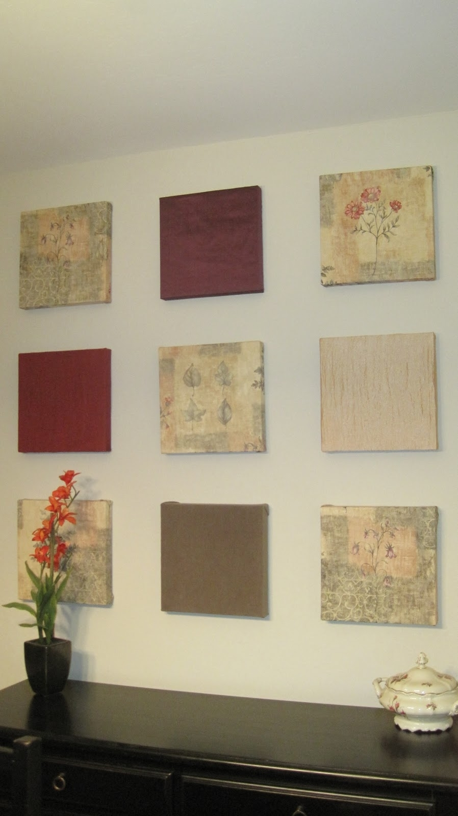 Whimsy Space: Wall Art Within Most Up To Date Fabric Square Wall Art (View 3 of 15)