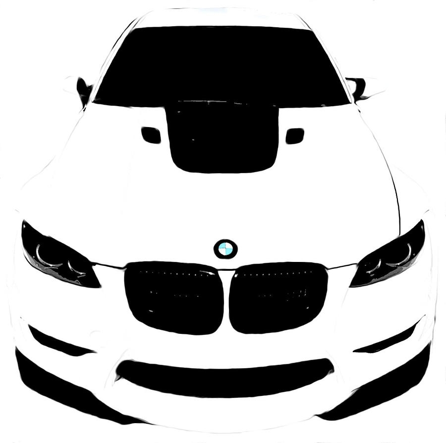 White Digital Artj Anthony Regarding Most Recent Bmw Canvas Wall Art (View 6 of 15)
