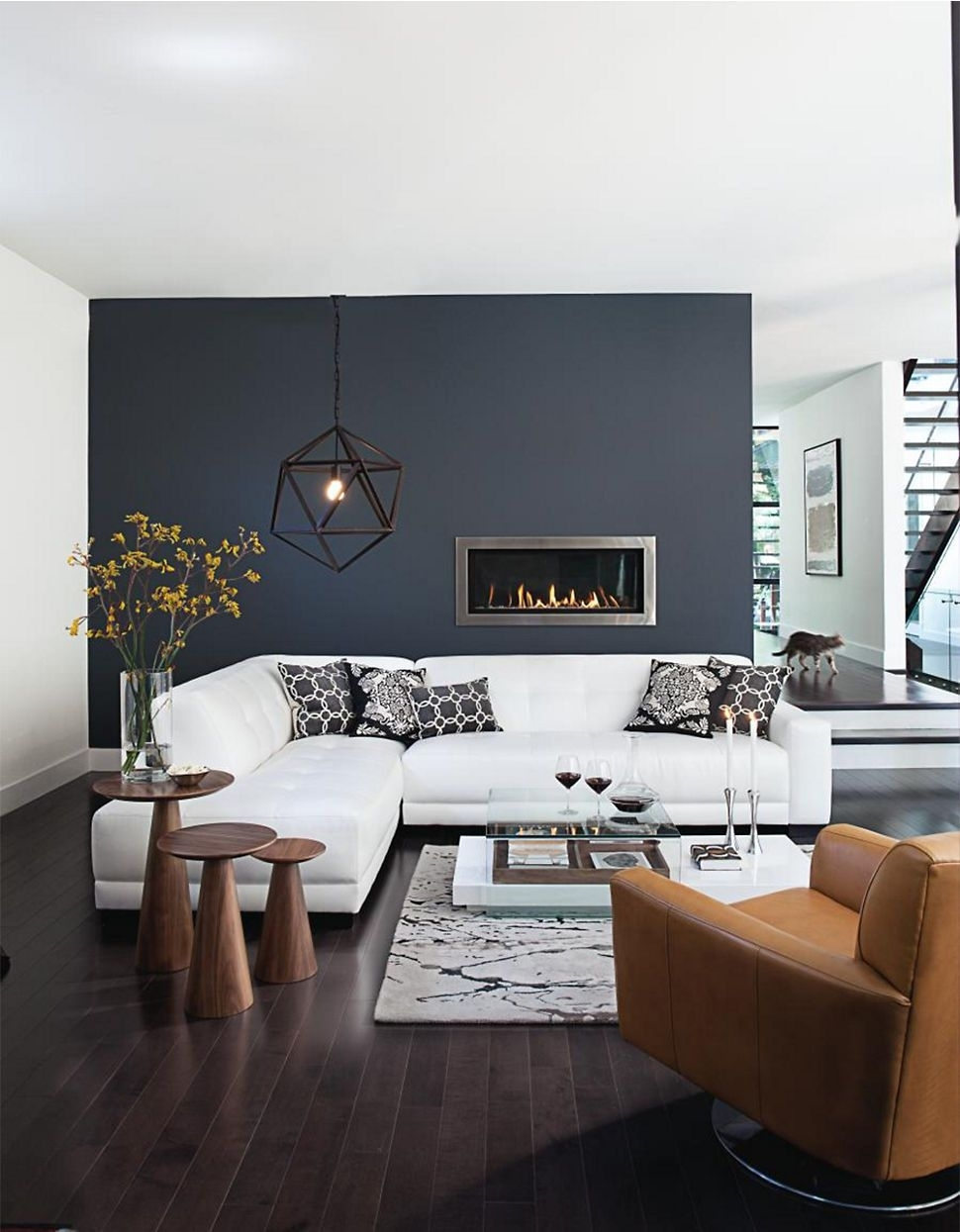 White Sofa Design Ideas & Pictures For Living Room | Modern Living With Regard To Best And Newest Wall Accents Behind Tv Or Couch (View 5 of 15)