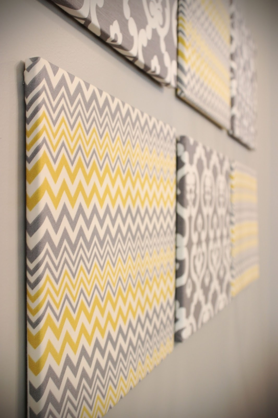 Why Have I Never Thought Of This, Buy Blank Canvases And Buy Cute For Newest Damask Fabric Wall Art (View 10 of 15)