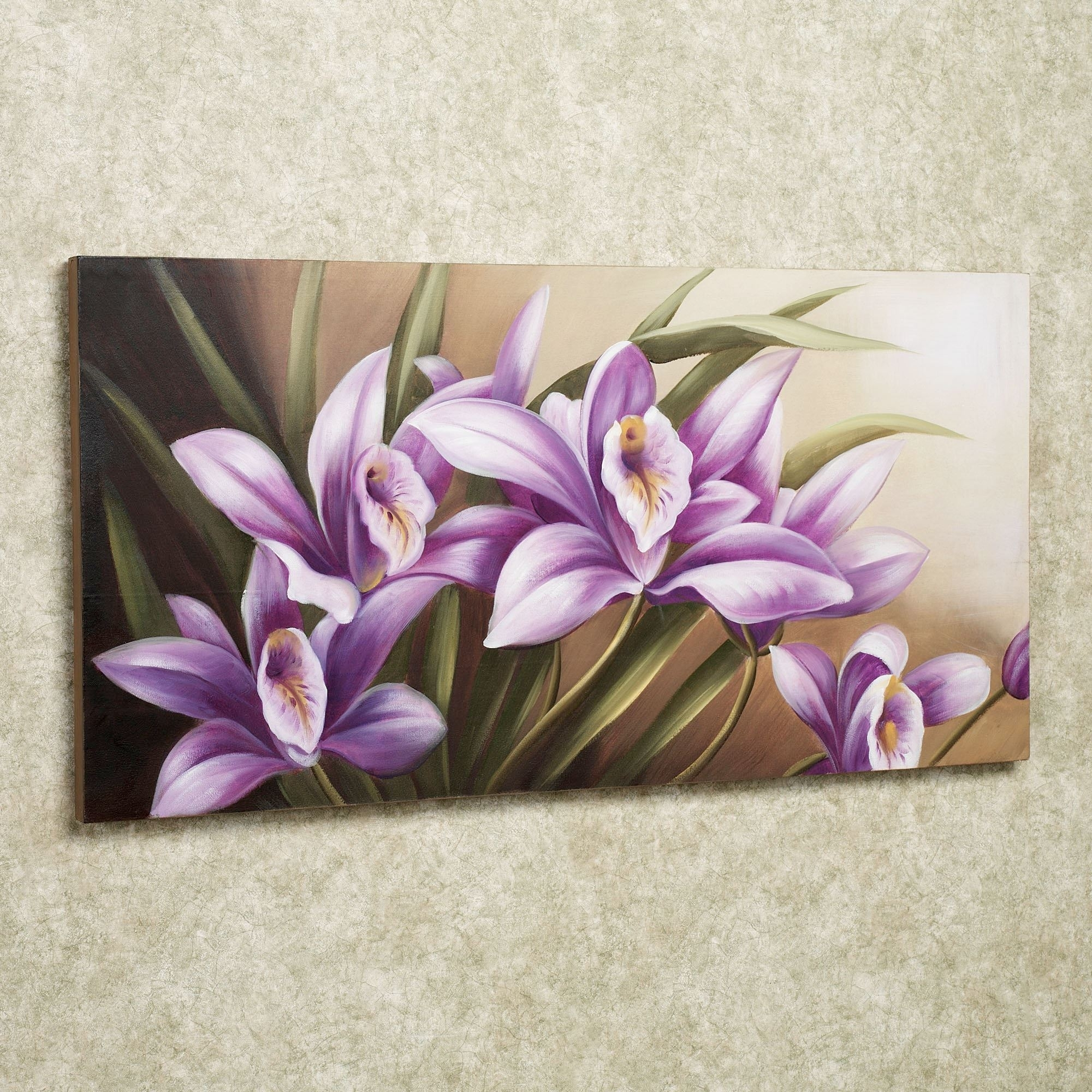 Wild Orchid Handpainted Floral Canvas Wall Art In Current Lilac Canvas Wall Art (View 6 of 15)