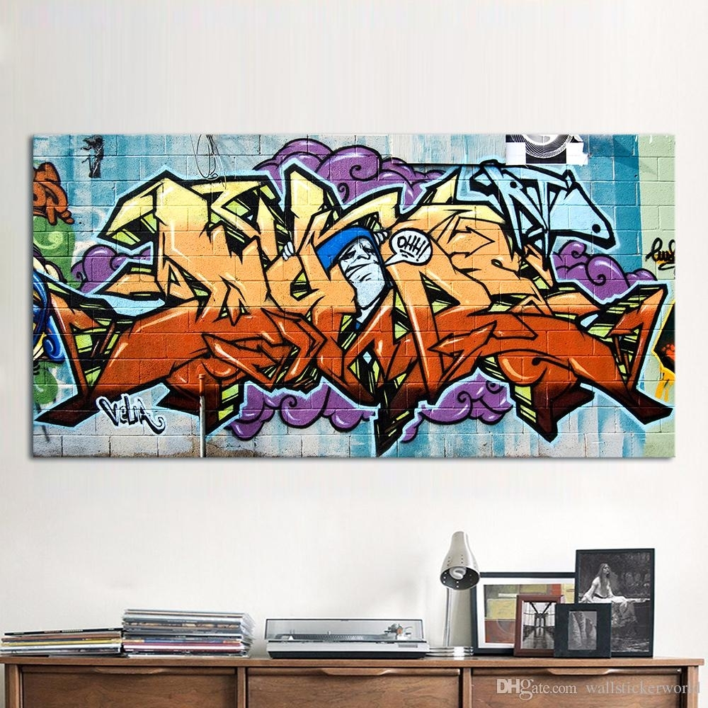 Wildstyle Graffiti Painting Street Canvas Art Wall Pictures For Intended For Latest Graffiti Canvas Wall Art (View 15 of 15)