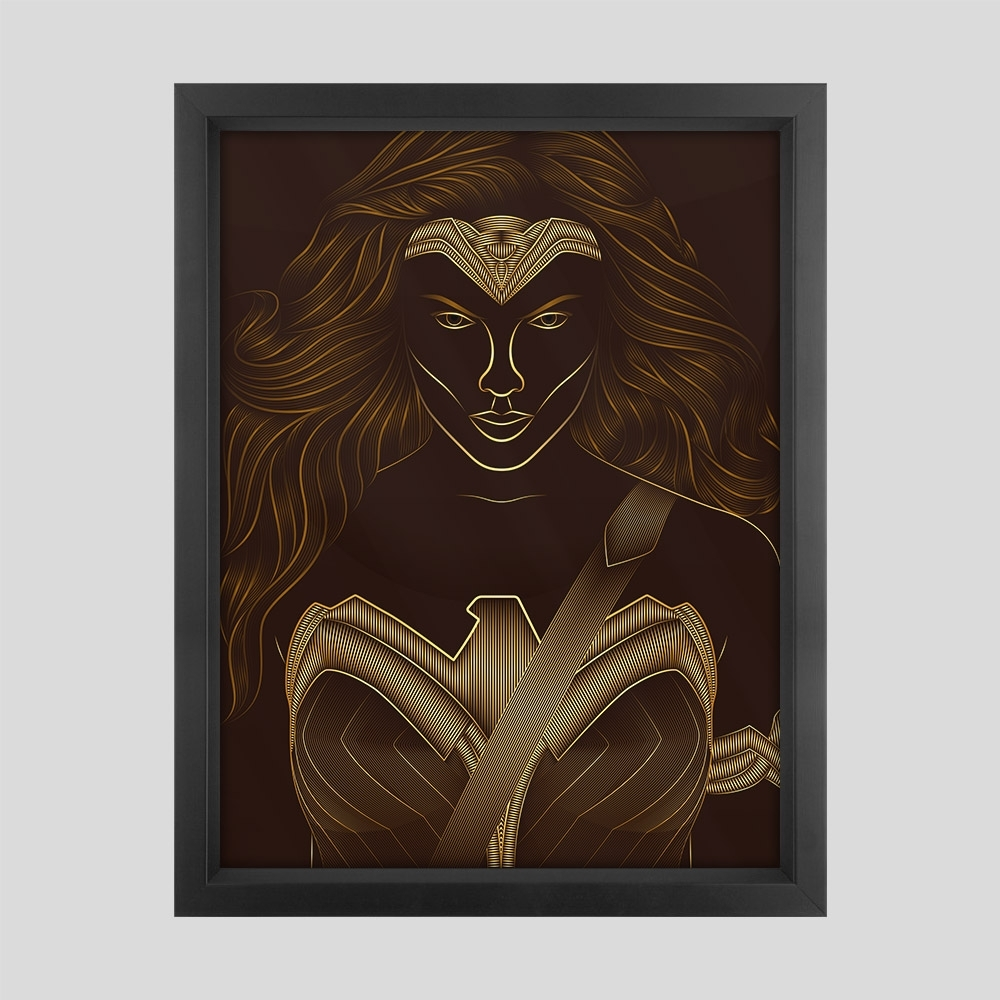 Wonder Woman Classic Framed Art Print – Geek Art – Geek Chic Pertaining To Most Current Framed Classic Art Prints (Gallery 14 of 15)