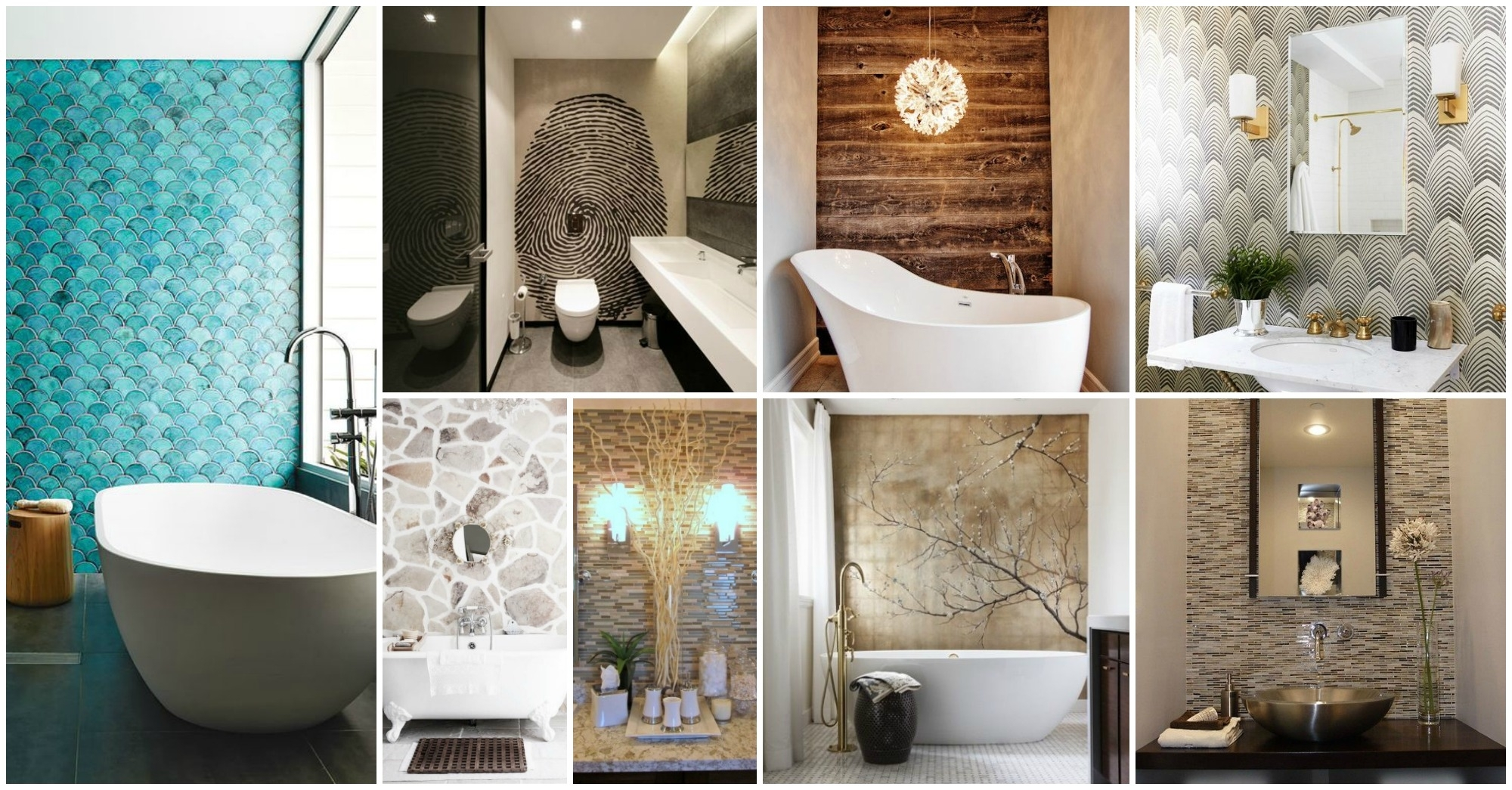 Wonderful 23 Bathroom With Accent Wall On Decorative Accents For Regarding Recent Wall Accents For Bathroom (View 6 of 15)