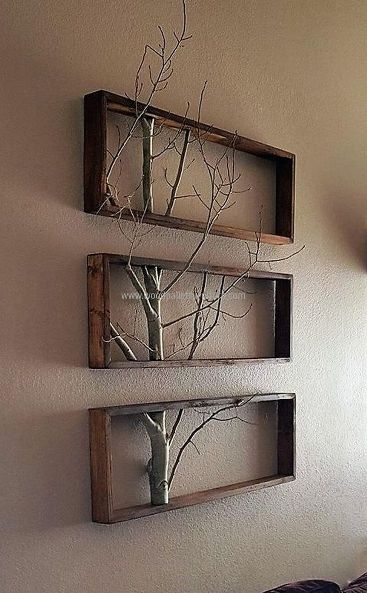 Wood Pallets Wall Decor Art | Interior Design | Pinterest | Pallet Pertaining To 2017 Wall Accents Made From Pallets (View 6 of 15)