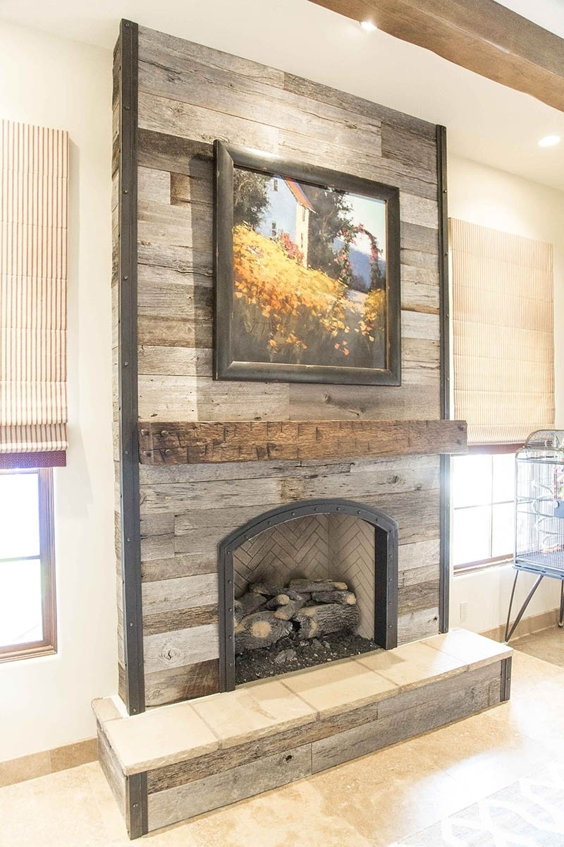 Wood Wall Fireplace – Trgn #cfd035Bf2521 For Latest Fireplace Wall Accents (View 15 of 15)