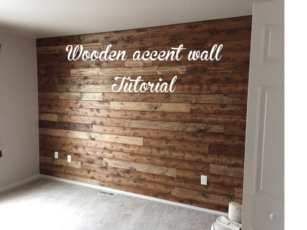 Wooden Accent Wall Tutorial | Diy | Pinterest | Tutorials, Walls With Most Current Wooden Wall Accents (View 14 of 15)