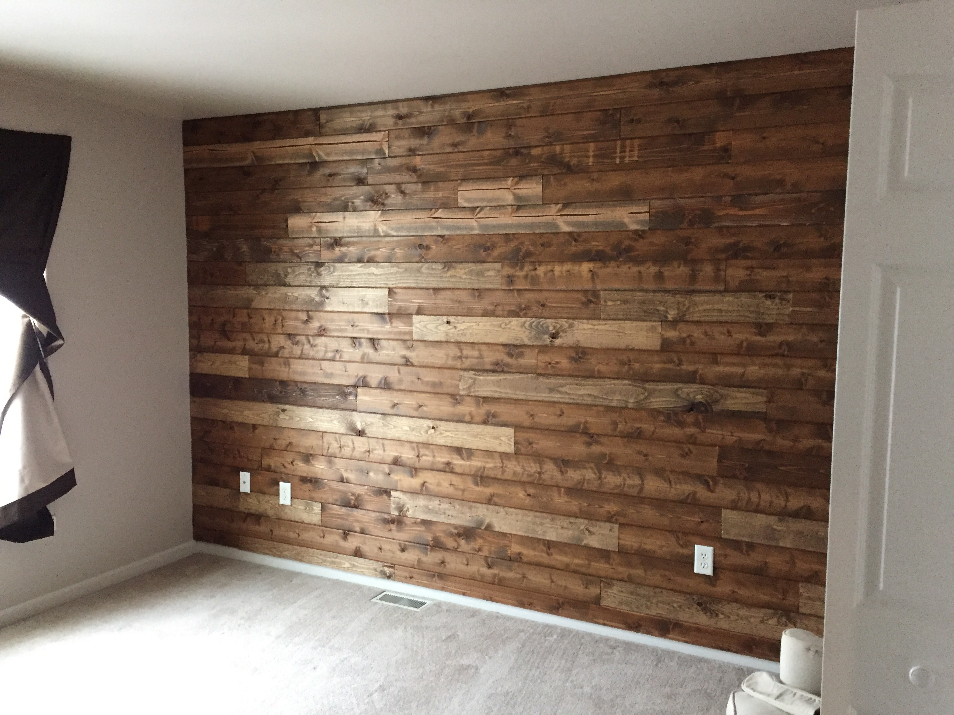 Wooden Accent Wall Tutorial Wood Accent Wall In Bathroom Accent regarding Latest Wood Wall Accents