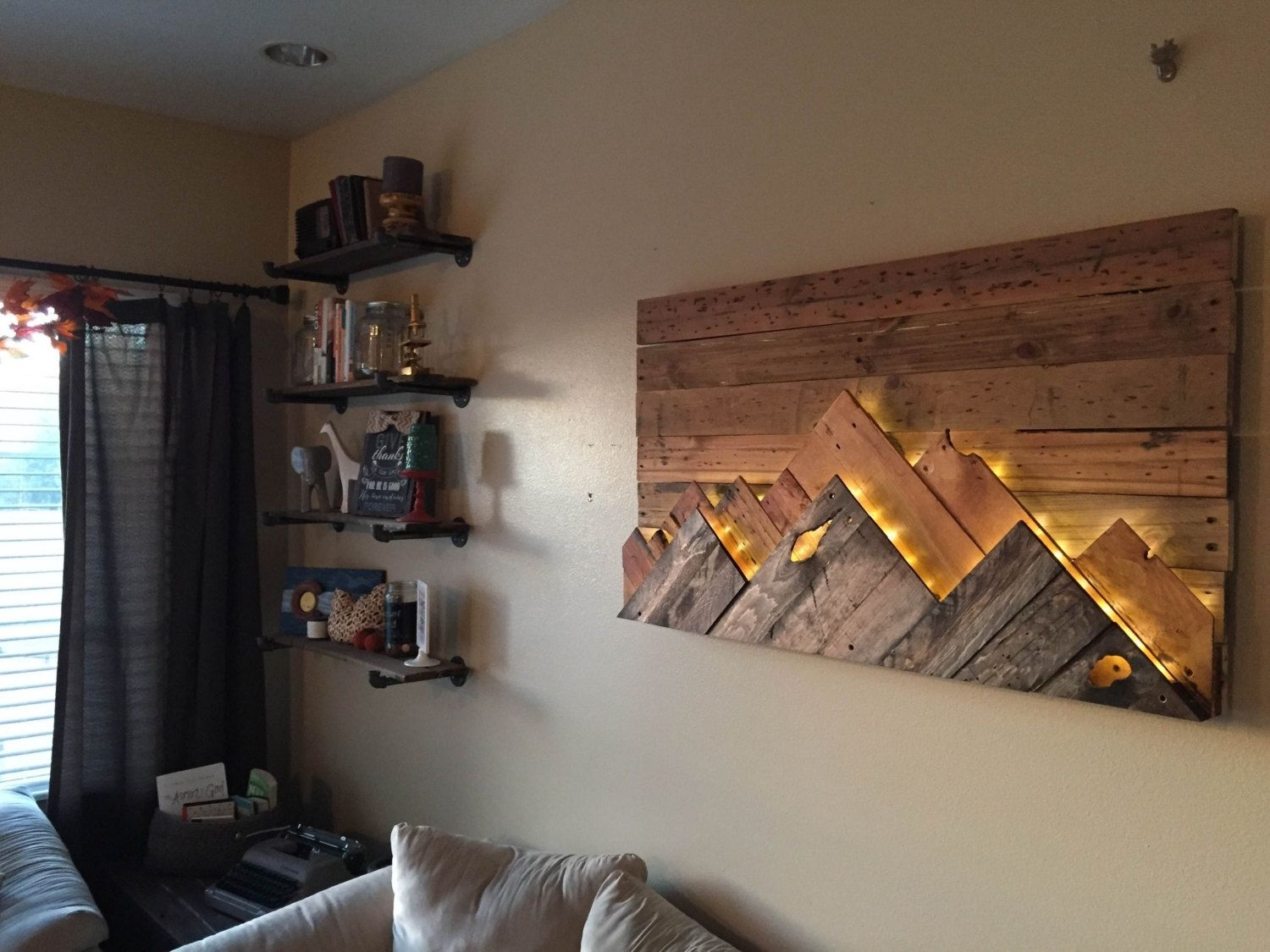 Wooden Mountain Range Wall Art | Mountain Range, Ranges And Walls In 2017 Wall Accents With Pallets (View 14 of 15)