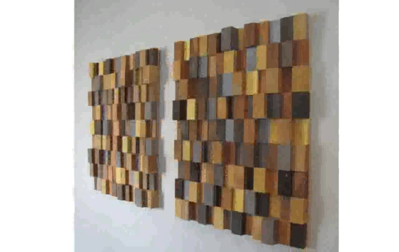 Wooden Wall Art – Youtube Within Most Popular Wooden Wall Accents (View 15 of 15)
