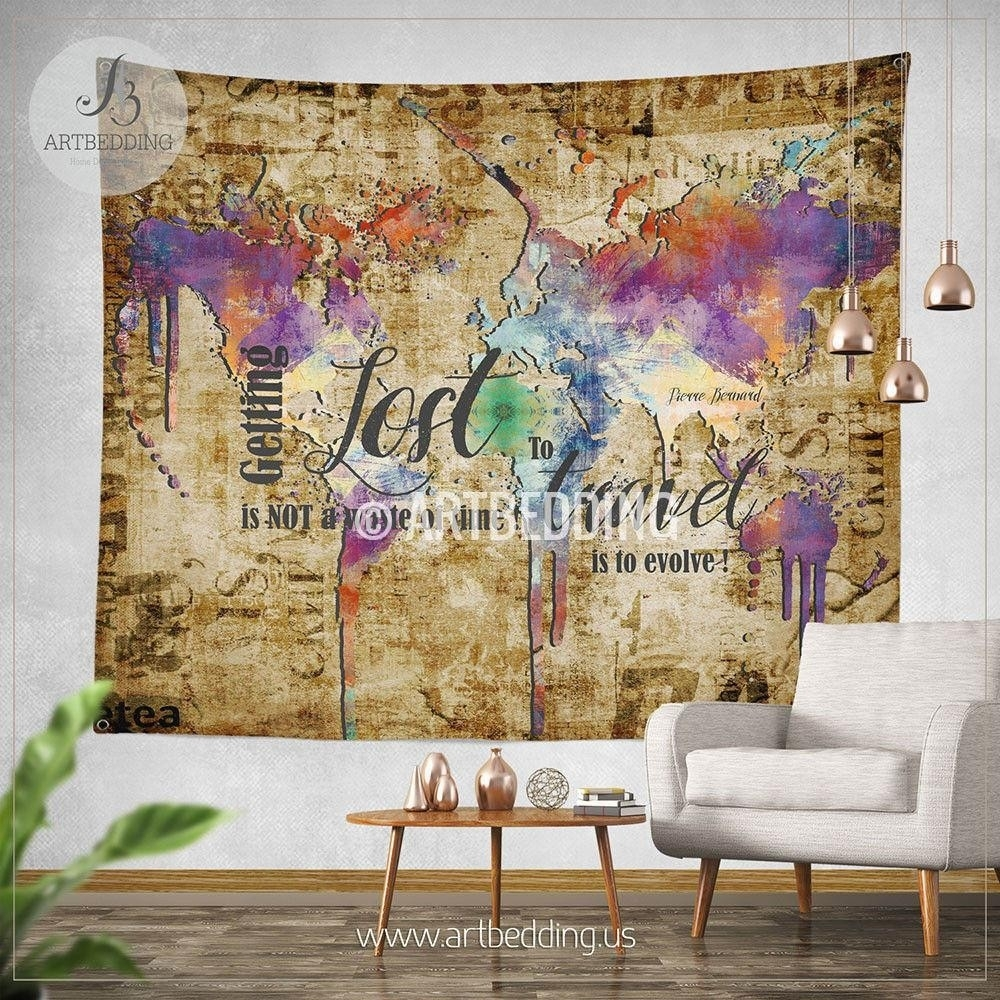 View photos of ikea fabric wall art showing 14 of 15 photos world map canvas nz best of crafty world map wall hanging fabric for best and newest gumiabroncs Gallery
