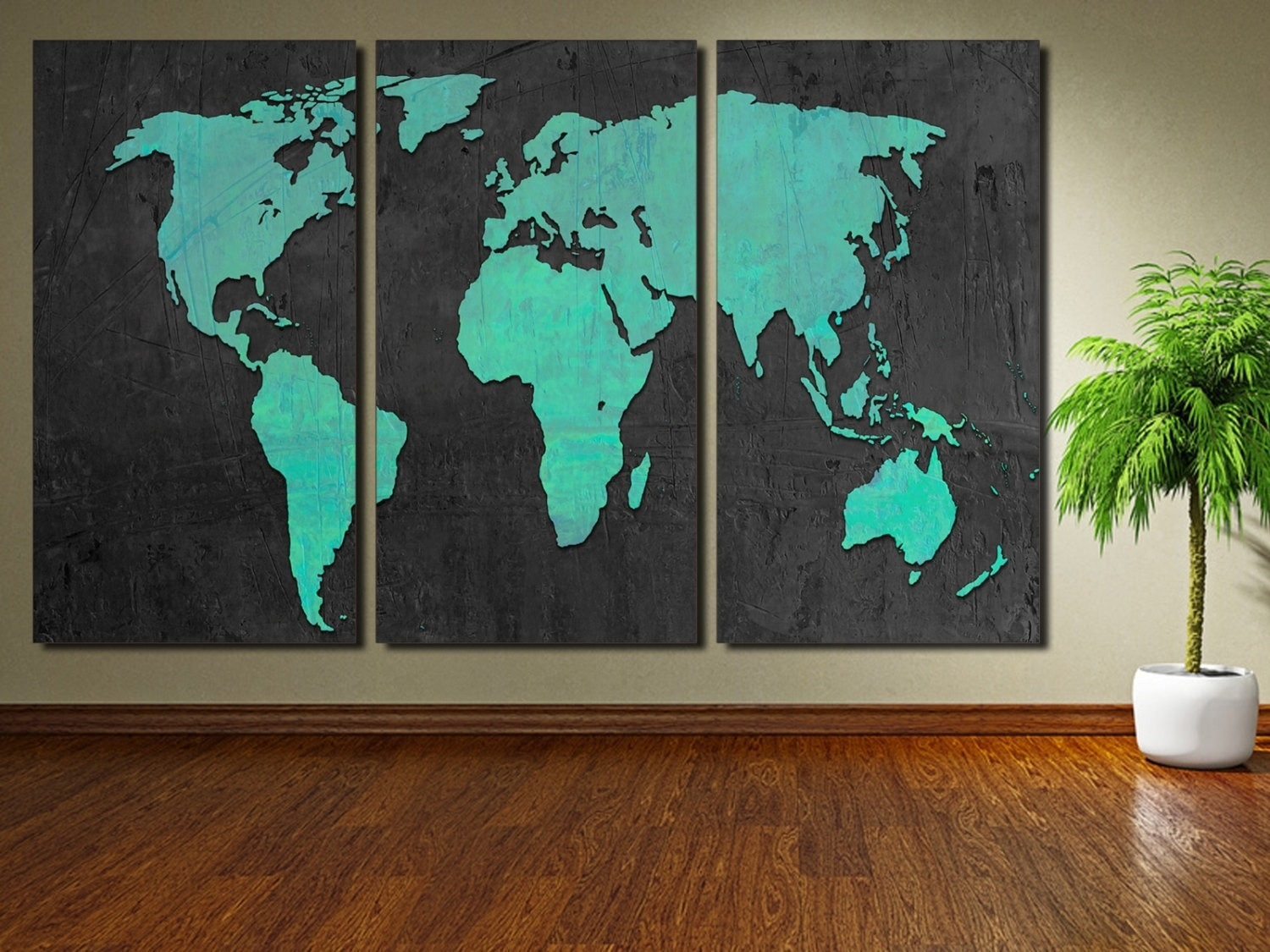 world map wall decor malaysia copy turquoise world map canvas pertaining to most recently released malaysia