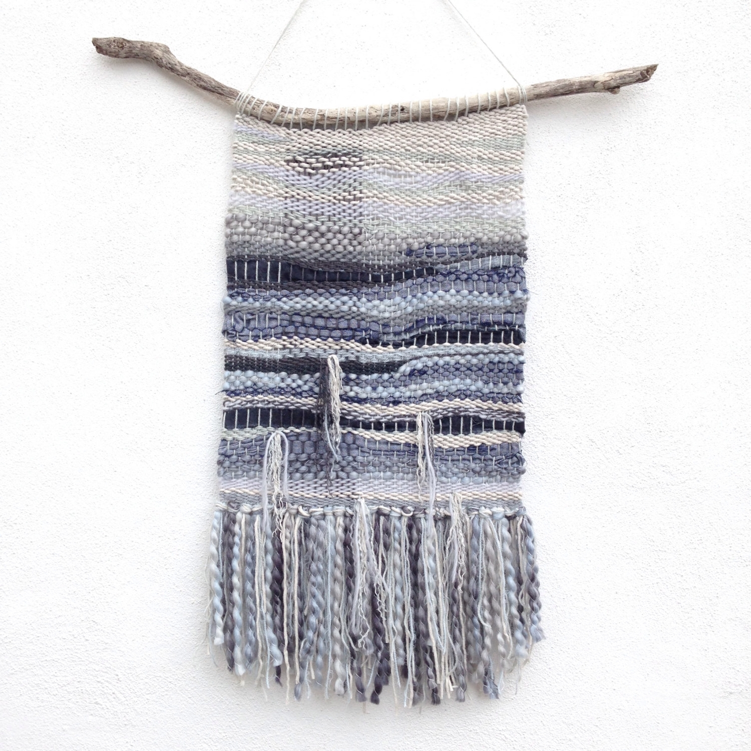 Woven Wall Hanging Weaving – Wall Artjungleandspritz On Etsy Throughout 2017 Woven Fabric Wall Art (View 15 of 15)