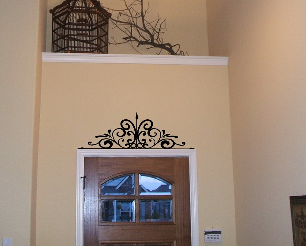Wrought Iron Scroll Wall Decor Blue   Design Idea And Decorations With Regard To Most Current Etsy Wall Accents (View 9 of 15)