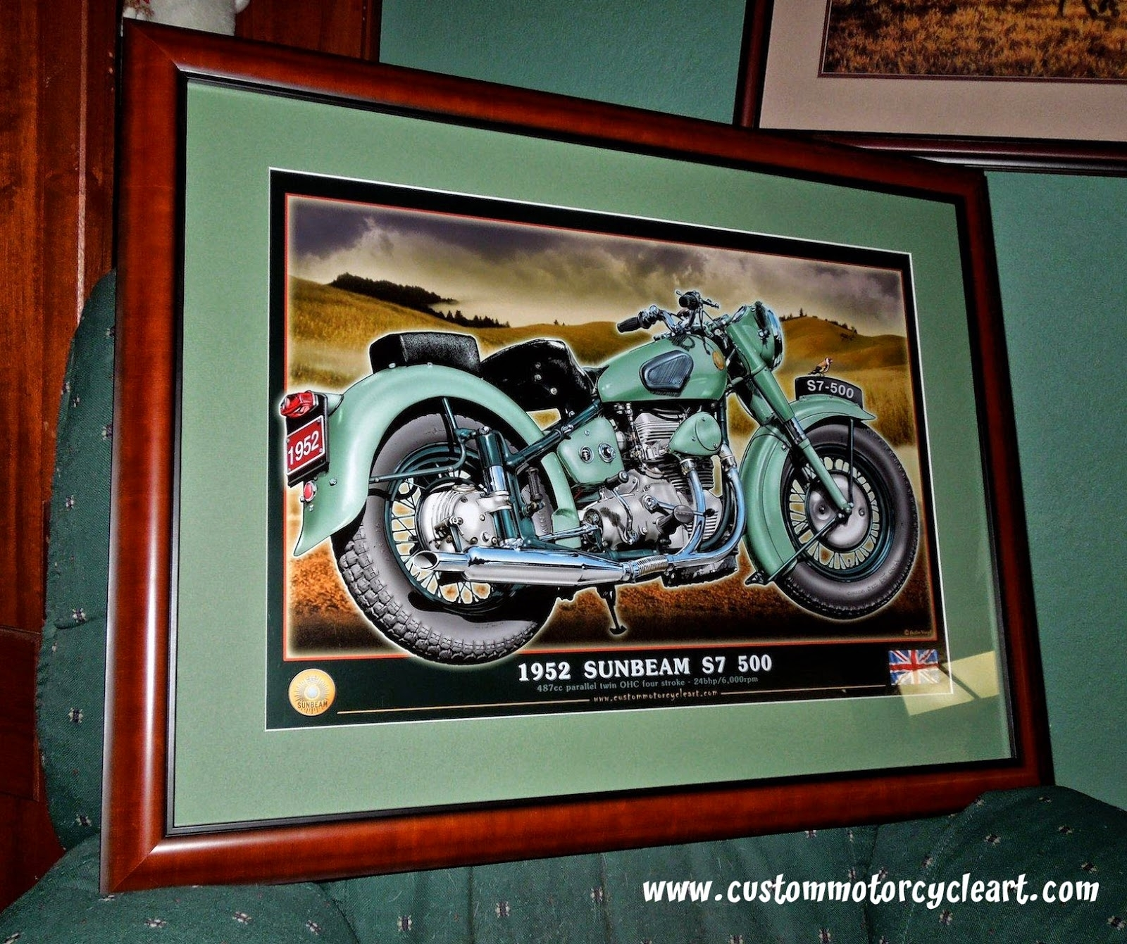 Www.custommotorcycleart: Motorcycle Art Print Framed. For Most Recently Released Framed Classic Art Prints (Gallery 10 of 15)