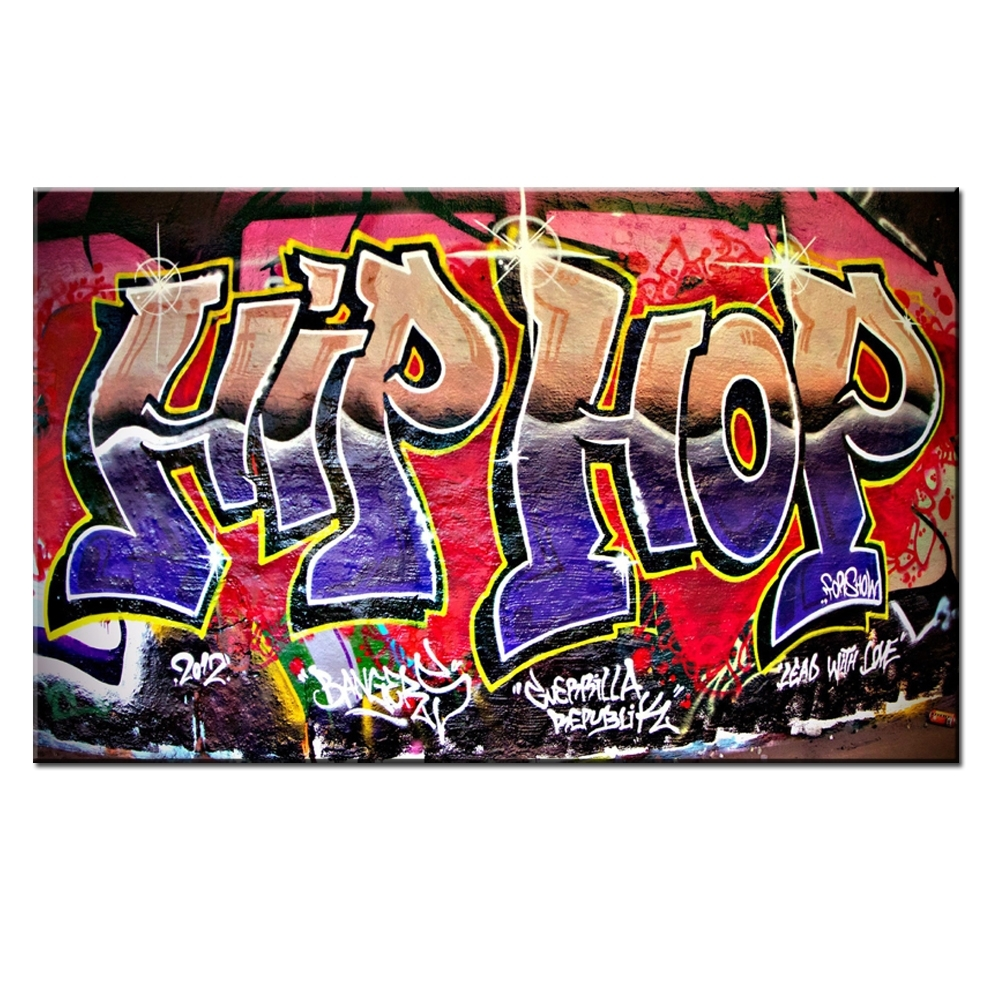 Xdr951 Graffiti Street Art Hip Hop Canvas Wall Art Prints Poster For Most Recently Released Graffiti Canvas Wall Art (Gallery 6 of 15)