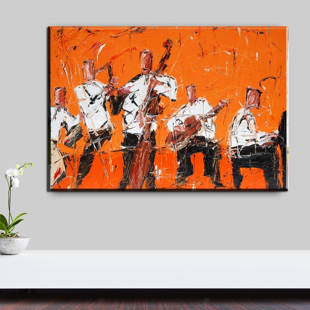 Xh2273 Rock Jazz Music Home Decor Wall Art Painting Canvas Art With Most Recently Released Jazz Canvas Wall Art (View 8 of 15)