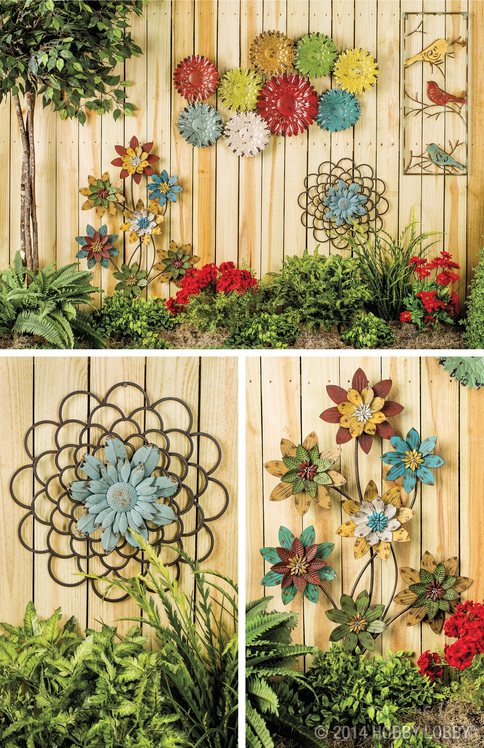 Your Home Decor Will Blossom With An Eye Catching Array Of Floral Throughout Best And Newest Garden Wall Accents (Gallery 7 of 15)