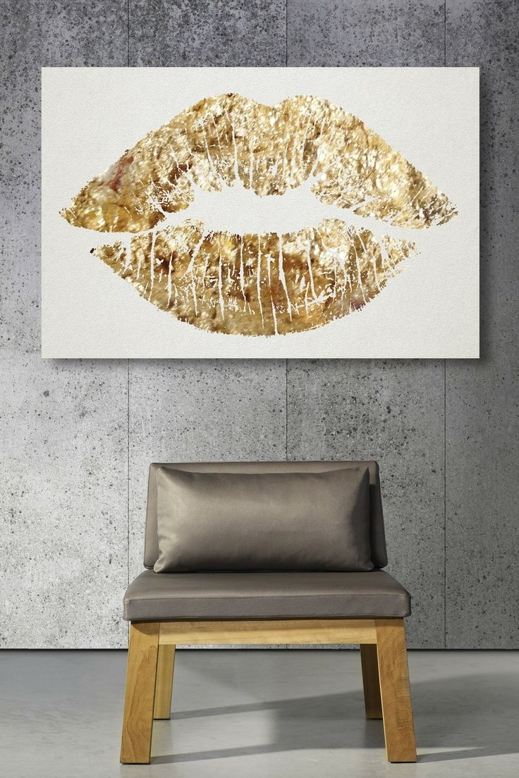 Your Home, Your Canvas: 6 Fun Wall Art Ideas | Gold Lips, Canvases With Regard To 2017 Gold Canvas Wall Art (View 15 of 15)