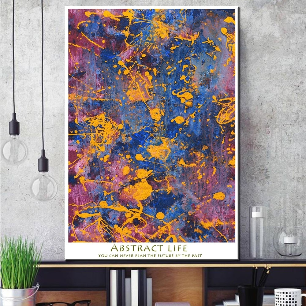 1 Pcs Abstract Graffiti Canvas Print Painting Modern Colorful Wall Intended For Most Recently Released Colorful Wall Art (View 14 of 20)