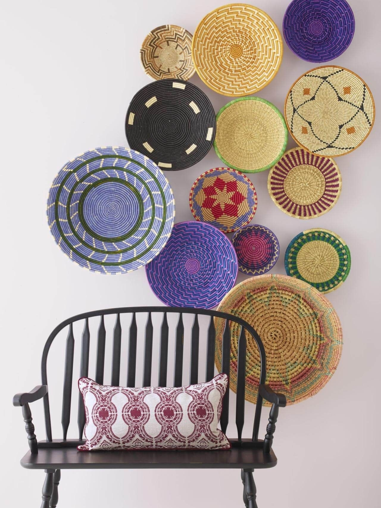 10 Simple Wall Decor Ideas For Your Living Room   Wall Décor, Walls Pertaining To Latest Woven Basket Wall Art (View 8 of 20)