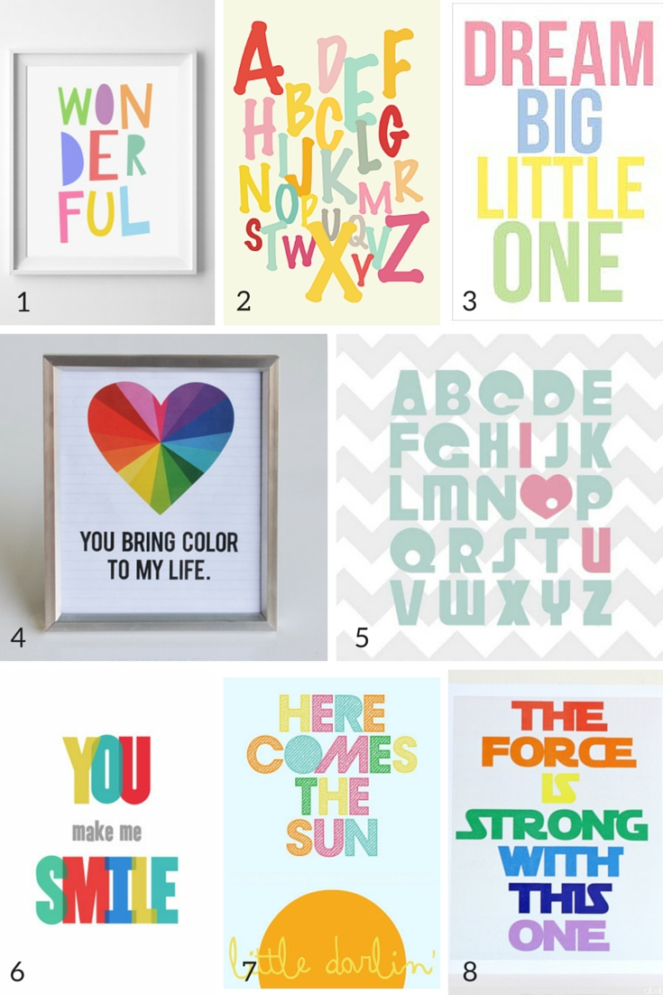100 Free Nursery Printables That'll Look Good In Every Baby's Room Inside Most Up To Date Free Printable Wall Art (View 15 of 20)