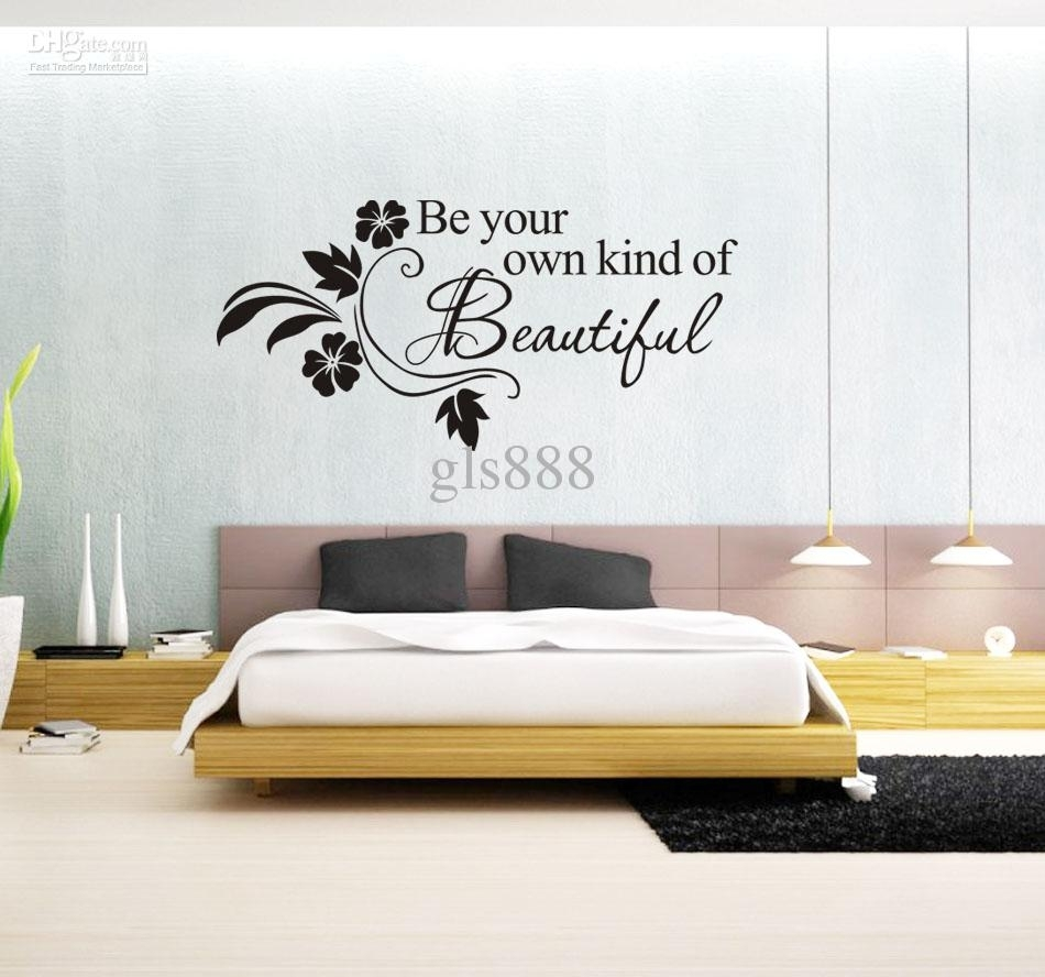 1066 60*80Cm Wall Words Lettering Saying Wall Decor Sticker Vinyl With 2017 Word Art For Walls (View 1 of 20)