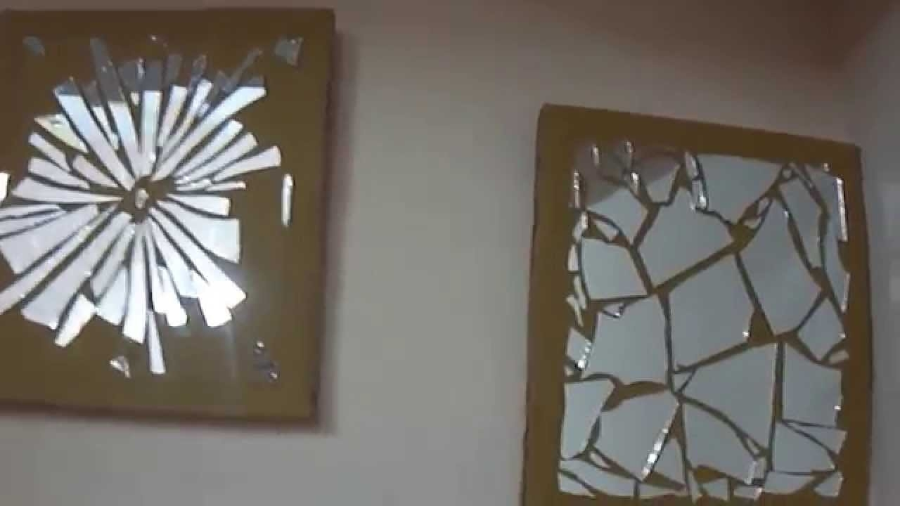 15 Diy Wall Decor — Mirror Mosaic – Youtube Regarding Most Recently Released Mirror Wall Art (View 1 of 15)