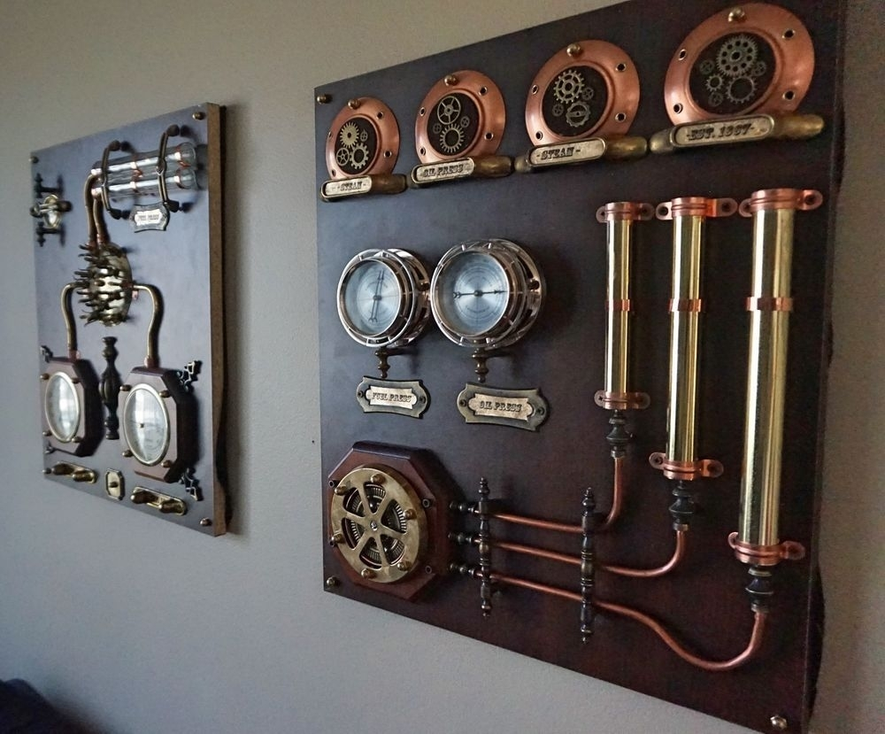 15 Steampunk Bedroom Decorating Ideas For Your Home   Bedroom With Regard To Most Current Steampunk Wall Art (View 1 of 20)