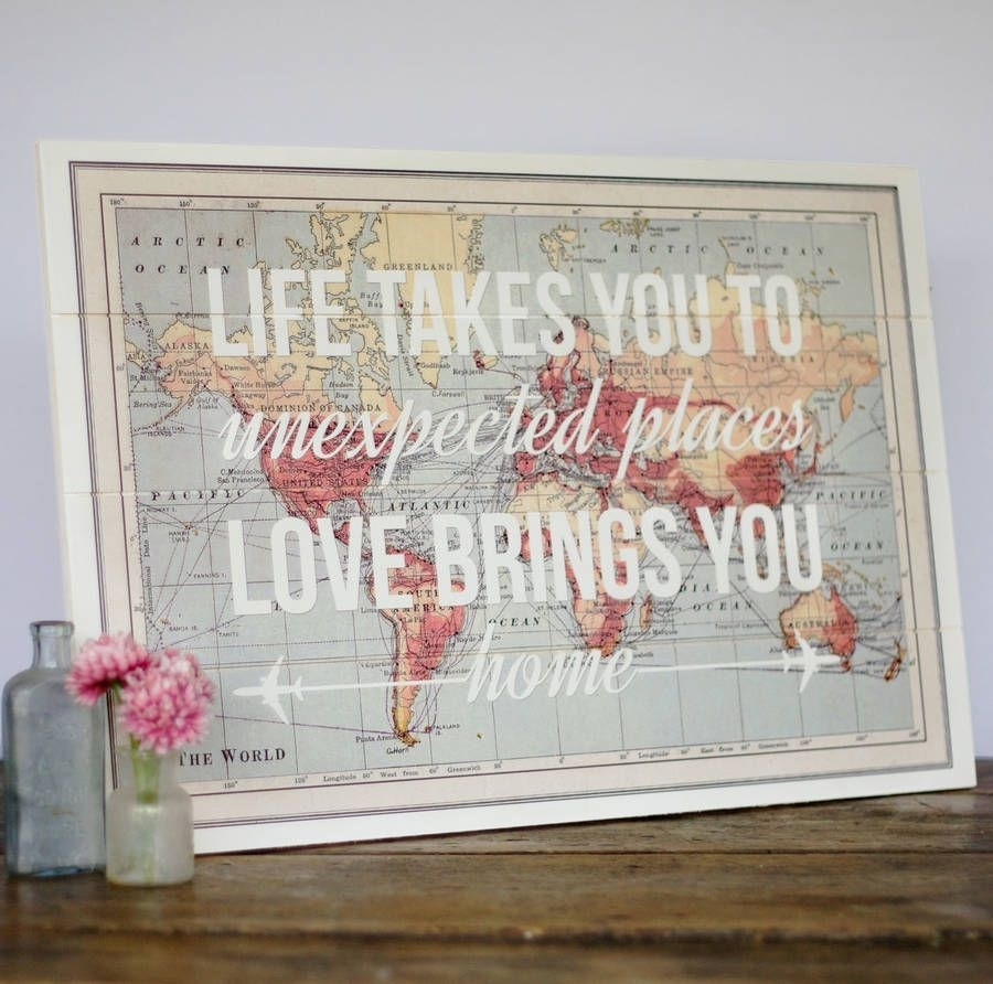 17 Cool Ideas For World Map Wall Art | For The Home | Pinterest Intended For Current Diy World Map Wall Art (View 1 of 20)