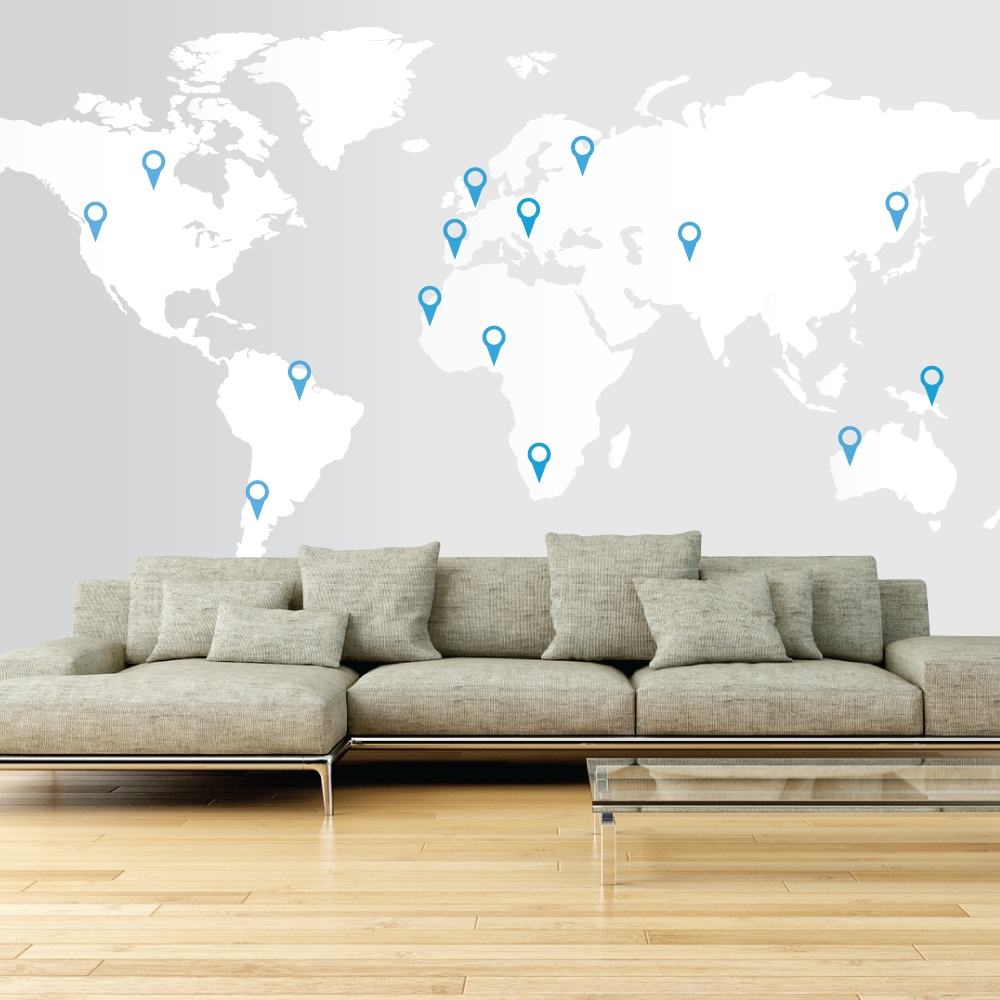 17 Cool Ideas For World Map Wall Art – Live Diy Ideas Intended For Most Recent Map Of The World Wall Art (View 6 of 20)