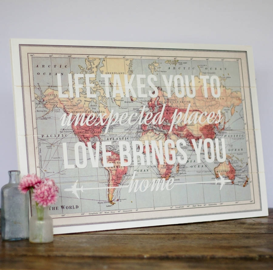 17 Cool Ideas For World Map Wall Art – Live Diy Ideas With Most Recently Released Maps Wall Art (View 2 of 20)