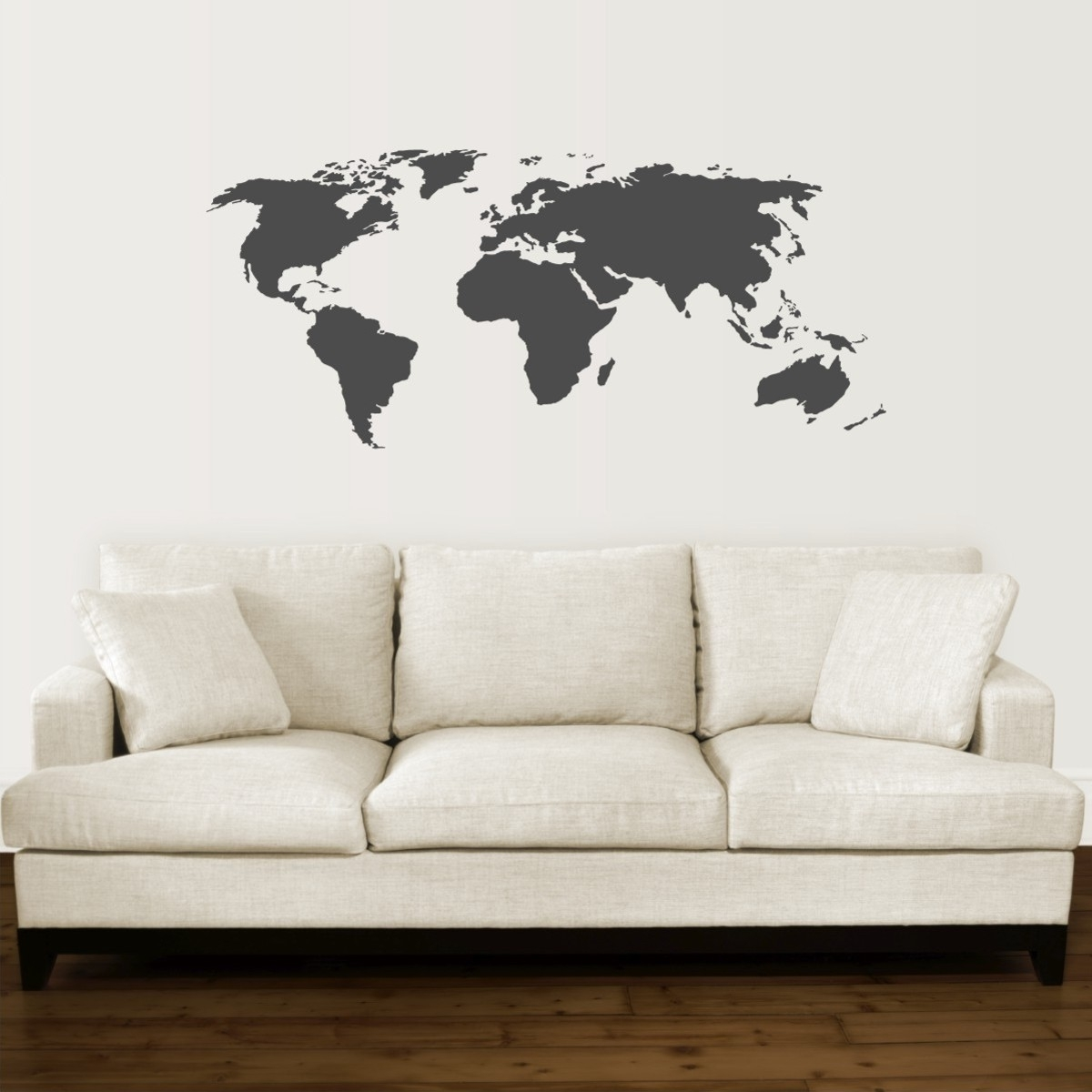 17 Cool Ideas For World Map Wall Art – Live Diy Ideas Within Current World Map For Wall Art (View 2 of 20)